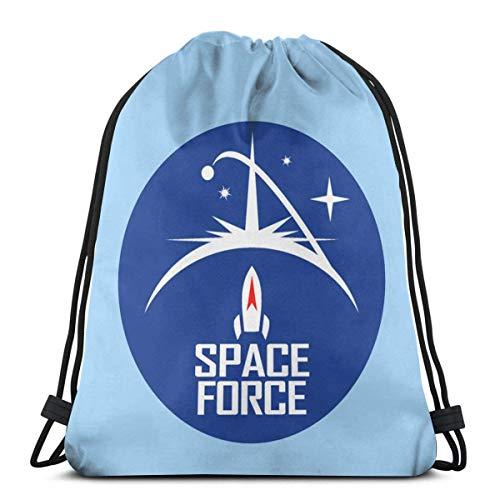 Wodann Space Force Kordelzug Rucksack Rucksack Umhängetaschen Gym Bag