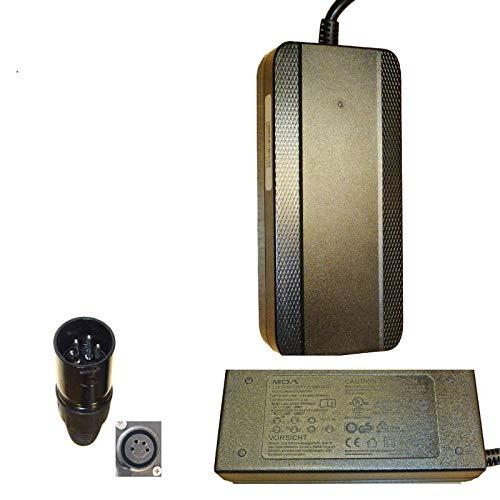 Powatechnic - Cargador de batería de litio 36 V, 42 V, 2 A, XLR de 4 pines para TranzX, Derby, B-Twin, Batribike, BionX y Plus Encore. (TranzX 4 pines)
