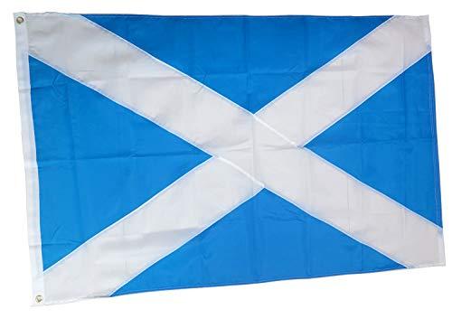rhungift Premium Heavy Duty Scotland Flag 3x5 Ft, Oxford Nylon 210D Scottish Flag | Quadruple Stitched Fly Ends |Brass Grommets for Easy Display British Union Jack st Andrews Flag