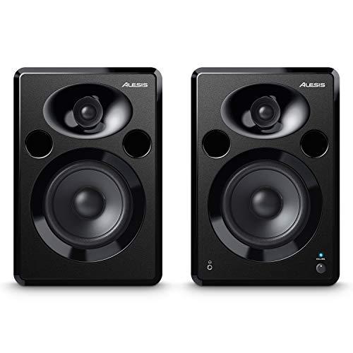 Alesis Elevate 5 MKII - Pareja de altavoces de escritorio y monitores de estudio amplificados, para producción musical, PC/Mac, multimedia, juegos 80 W
