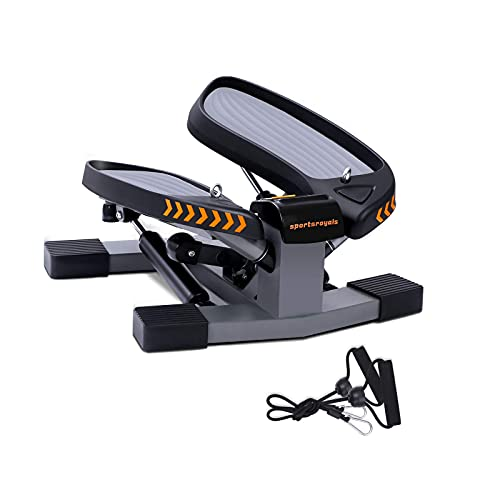Sportsroyals Stair Stepper for Exercises-Twist Stepper with Resistance Bands and 330lbs Weight Capacity (Renewed)