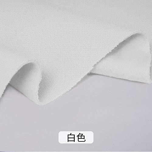 Trui katoenweefsel, katoen plus fluweel verdikte geborstelde stof, kledingstof, 1M-Puur wit
