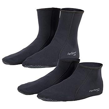 NeoSport 2mm Neoprene Snorkel Low-top Socks Black - Size 13