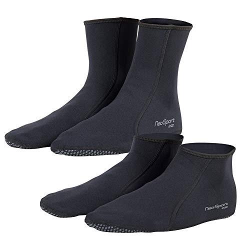 NeoSport 2mm Neoprene Snorkel Lowtop Socks Black  Size 11