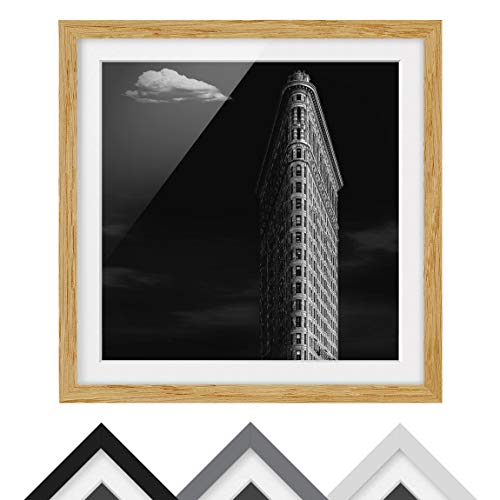 Póster Enmarcado - Flatiron Building - Color de Marco Madera de encina 50x50 cm
