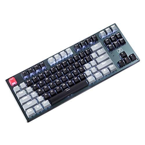 Tastiera da Gioco 87 Veri E Propri Alberi Meccanici Tasti Bluetooth Tastiera Meccanica Cablata/wireless Gaming Tastiera con Retroilluminato per PC Mac Windows