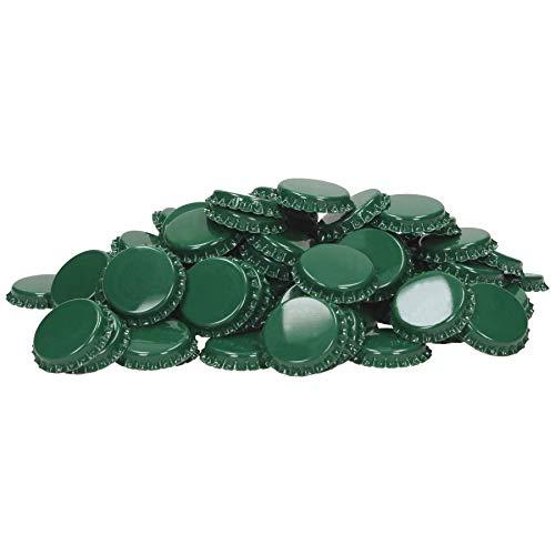 1000 chapas de corcho de 29 mm, color verde, con inserto espumado, hasta 4 bar, chapas de corona, especial para cerveza, bricolaje, cerveza, cría