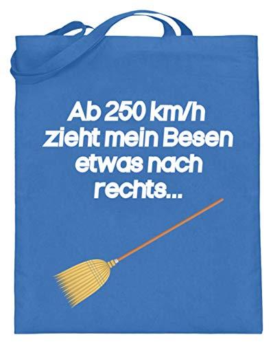 Hoogwaardige jute zak (met lange hengsels) - vanaf 250 km/u trekt mijn bezem iets nas rechts heks - eenvoudig en grappig design