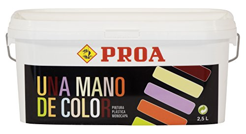 Una mano de color. Monocapa mate facil aplicación. PROA