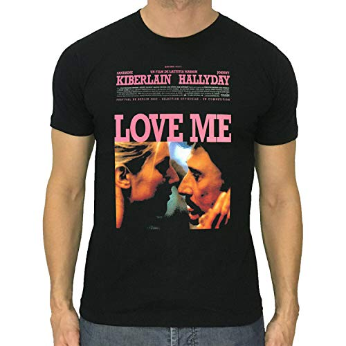 Love ME t-Shirt Johnny Hallyday Film Movie Poster S to 5XL Black L