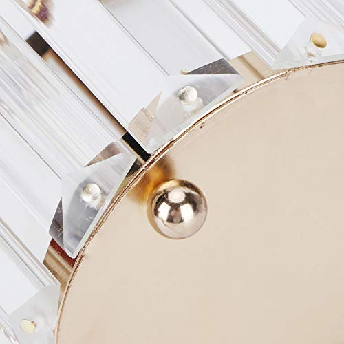 Portalápices de Cristal, Organizador de Maquillaje de Cristal El diseño Transparente ocupa Poco Espacio para un Regalo para Cualquier decoración de su tocador o encimera