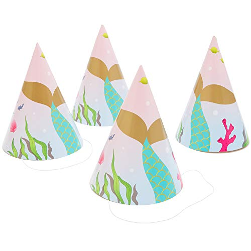 Unicorn Party Supplies, Birthday Party Hats (5 x 7 in, 24 Pack) Pink and Lavender
