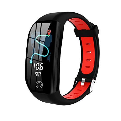 QFSLR Smartwatch, Reloj Inteligente con Pulsómetro, Cronómetros, Calorías, Monitor De Sueño Ciclo Menstrual Femenino Monitor De Presión Arterial para Android iOS,Rojo