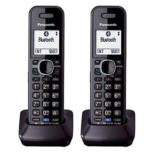 Panasonic KX-TGA950 Dect 6.0 Plus 2-Line Caller ID Call Block 3-Way Conferencing Landline Cordless Accessory Handset for KX-TGXXXX Series Phones (2-Pack)