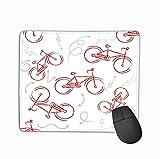 Rechteck Rechteck Rutschfeste Gummi Mousepad rot Sport Bike Ornament Gemustertes Designelement Fahrrad Logo Ihr Design Bike