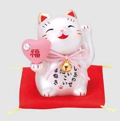 Matsumoto-Toki Fortuna de Bienvenida Gato,Gato de la Suerte o Gato de la Fortuna Maneki-Neko de Cerámica Pequeño 7548 de Japón