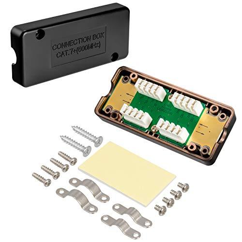 1 x CAT7 LSA Connection Box Cat 7 Conector Módulo de conexión – Extensión de cable de red para cable de red CAT.7 CAT.6a CAT.6 – Conecte reparación de Ethernet Internet LAN caja de conexiones