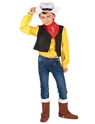 Vegaoo - Disfraz Lucky Luke nio - L 10-12 aos (130-140 cm)