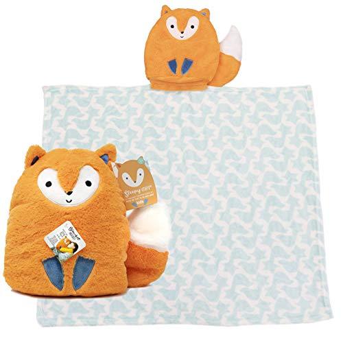 Rise & Shine Sleepy Stuffs - Plush Stuffed Animal Blanket - Fox