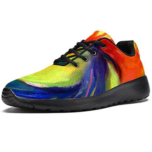LORVIES - Zapatillas de deporte para hombre con peine rojo, (multicolor), 48 EU