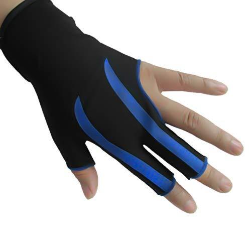 Elastischer Lycra 3 Finger Showhandschuh, billard handschuh linke hand , Billard Handschuh für Mann und Frau, dehnbar, 3 Finger