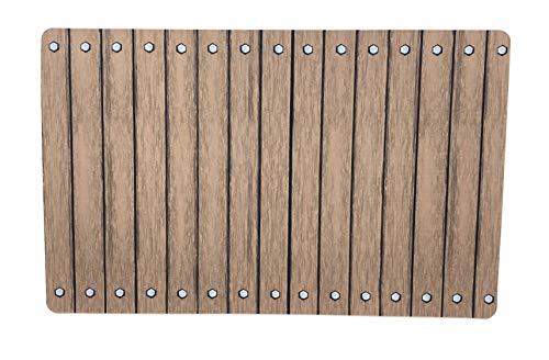 De'Carpet Alfombra Textl Suelo Original Moderna Lavable Pasarela Madera (57x190cm)