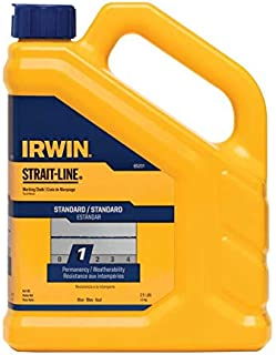 IRWIN Tools STRAIT-LINE Standard Marking Chalk, 5-pound, Blue Chalk (65101ZR)
