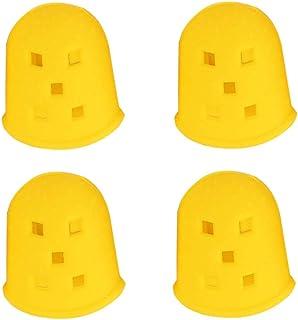 HEALLILY 4pcs protecteurs de doigt de guitare protège-doigts en silicone protège-doigts protecteur M