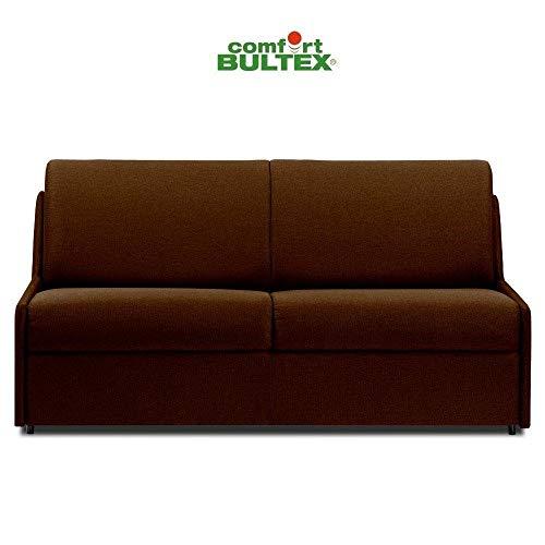 Canapé Convertible rapido COMPACTO Matelas 140cm Comfort BULTEX® Tissu Neo Marron