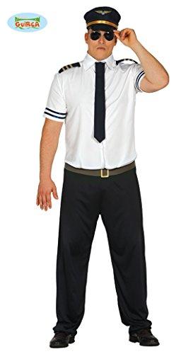 Sexy Piloten Kostüm für Herren Pilot Fasching Herrenkostüm Uniform Kapitän Gr. M - L, Größe:L