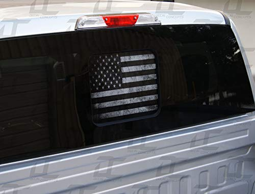 Decal Concepts F-150 / F-250 American Flag Rear Window See Through Accent Decal...