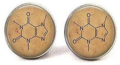 Coffein Chemie-Molekül – Kaffee Schmuck – Java – Koffein Anhänger – I Love Coffein – Vintage Koffein Molekül Ohrringe