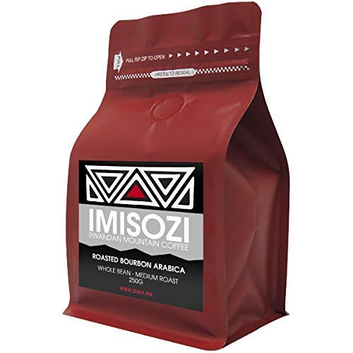 Imisozi - Premium Rwandan Mountain Coffee - 100% Roasted Bourbon Arabica - Medium Roast - 250g (Whole Bean)