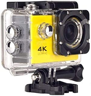 Vomoco 4K Action Sports Camera with Ultra HD / 2 Inch Display/WiFi Function/Water Proof / 16 Mega Pixel/Wide Angel Compatible with Android, iOS & Windows Devices (Random Color)