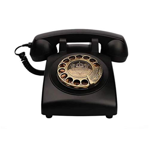 LXZSP Teléfono Fijo Retro Teléfono clásico Retro de la Vendimia Réplica de teléfono de Estilo Antiguo Dial Giratorio Teléfono Fijo Antiguo Teléfono con Cable con Cuerpo de Resina