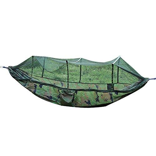 Ppy778 Outdoor-Hängematte, Mehrzweck-Sonnenschirm-Moskito, atmungsaktives Moskitonetz, Camouflage Army Green, 240 * 120cm