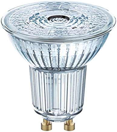 Osram LED Star PAR16/LED Reflector Lamp, PAR16, for Line Voltage Operation, with Pin Base: GU10, Beam Angle: 36 Degrees, 4000 K, Cool White, 4.30 W, 220 to 240 V, 50 W Replacement, Pack of 1