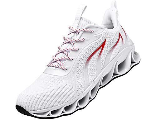 SINOES Unisex Erwachsene Straßenlaufschuhe Sportschuhe Bequem Ultra-Light Laufschuhe Schnürer Turnschuhe Sneakers Modisch Luftkissenschuhe Joggingschuhe Für Herren Und Damen