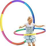 Hula Hoop, pneumatici per bambini, 8 sezioni, rimovibili, per fitness, hula hoop, per casa, esterno, scuola, feste, danza, bruciare i grassi, danza, yoga