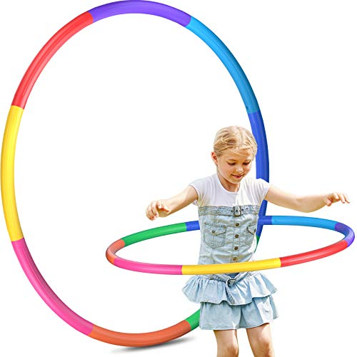 Hoola Hoops Kids Detachable Adjustable Size Kids Hoola Hoop Suitable for Lose Weight Gymnastics Dance Games and Pet Training Boys and Girls