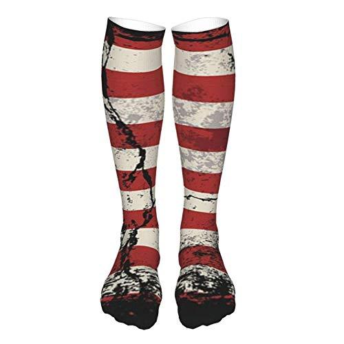 LLOOP 3D Estilo Vintage Grueso Caliente Invierno Grunge Ilustración De La Bandera Americana Calcetines Causal Calcetines Para Mujeres Y Hombres