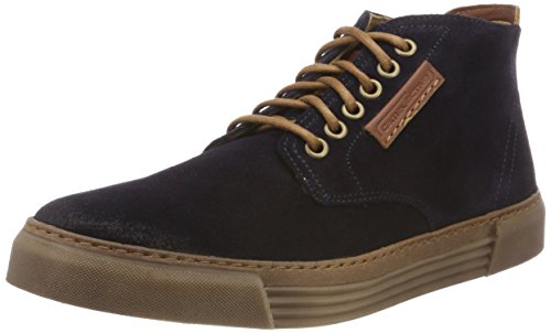 camel active Herren Racket 20 Hohe Sneaker, Blau (Midnight (Caramel) 11), 46 EU (11 UK)