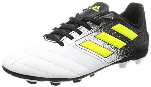 adidas Ace 17.4 FxG, Botas de fútbol Unisex niños, Blanco (Footwear White/Solar Yellow/Core Black), 36 2/3 EU