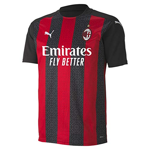 AC Milan Home Men's Soccer Jersey- 2020/21 (Medium) Red/Black