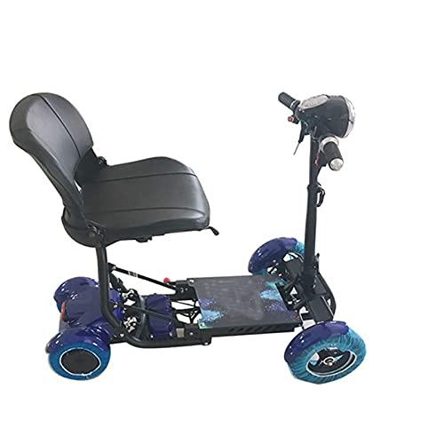 TADYL Patinete de Movilidad Plegable para Adultos y Personas Mayores, Patinete eléctrico de Movilidad de 4 Ruedas, Ligero, portátil, Recargable, de Viaje, Patinetes de Movilidad, sillas de Rue