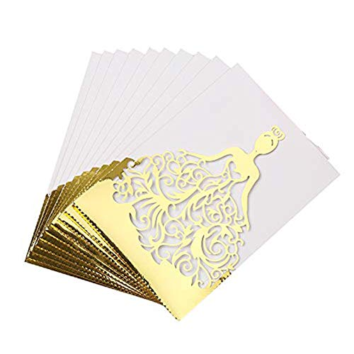 Inviti Matrimonio 10pcs/Set Carte Invito a Nozze Carta Perlata