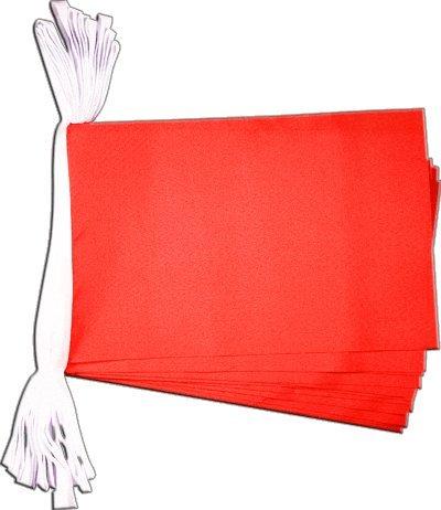 Digni Guirlande 15 drapeaux Unicolore Rouge - 5,9 sticker gratuit