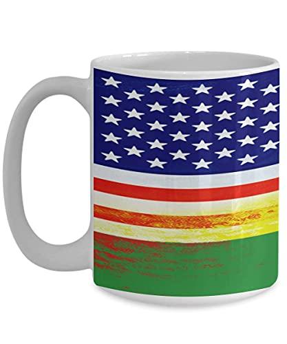 N\A USA Ruanda Flagge Ruanda White Coffee Mug Teetasse