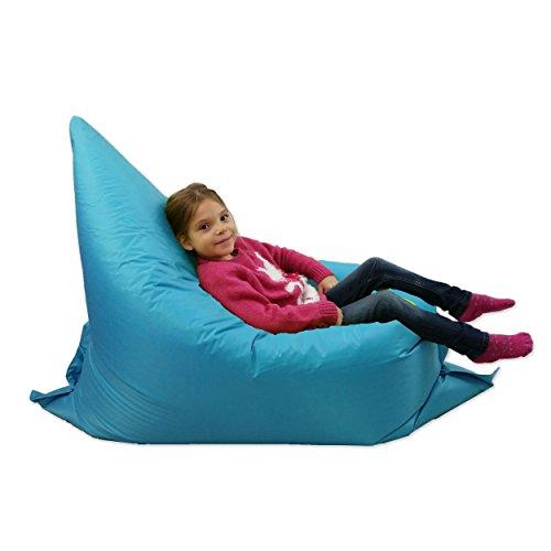 MaxiBean Kids BeanBag Large 6-Way Garden Lounger - GIANT Childrens Bean Bags Outdoor Floor Cushion TEAL AQUA BLUE - 100% Water Resistant