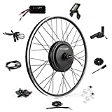 Ebike Conversion Kit 48V 1200W 700C Direct Drive Waterproof Electric Bike Conversion Kit - Ebike Kit - Hub Motor Kit S830 LCD Display (Front/LCD/Thumb)